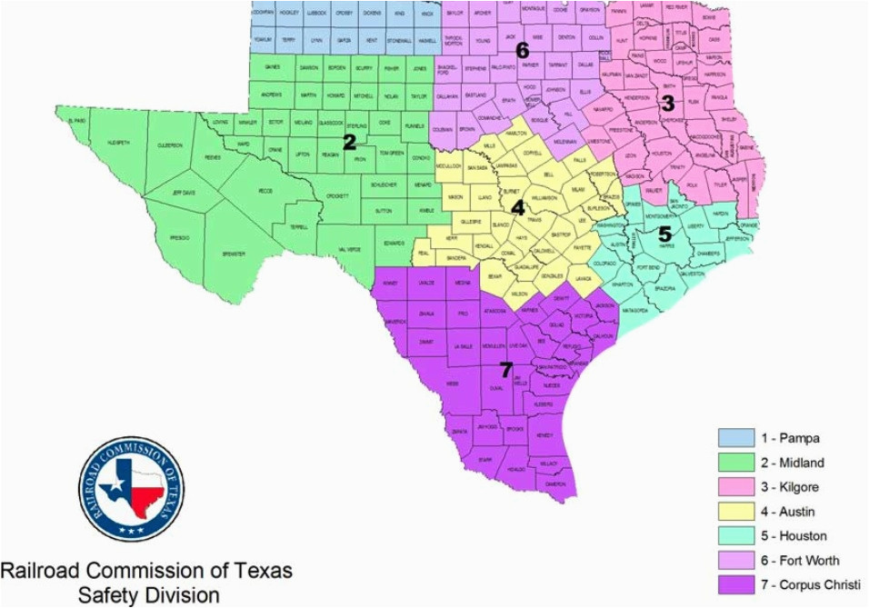 Map Of Texas District 6.Texas Railroad Commission District Map Texas Rrc Map Business Ideas