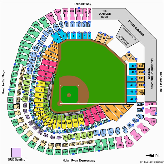 40 rangers ballpark seating chart with seat numbers inspiration