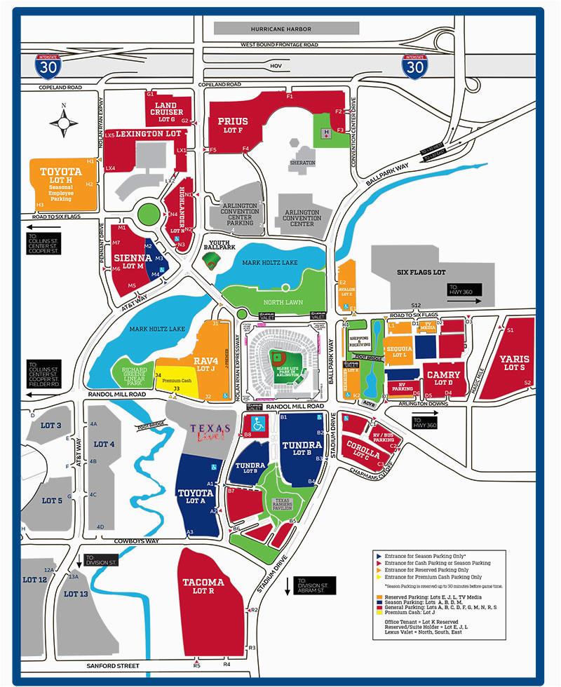 texas rangers parking lot map business ideas 2013