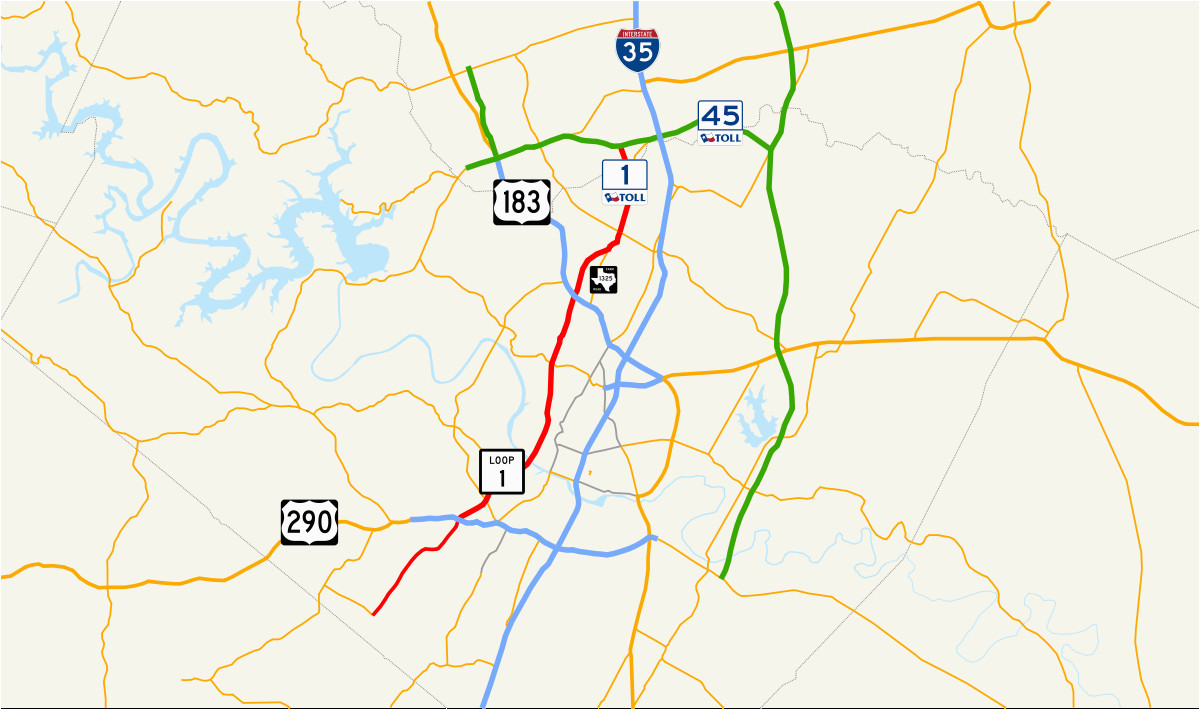Texas Road Construction Map Texas State Highway Loop 1 Wikipedia