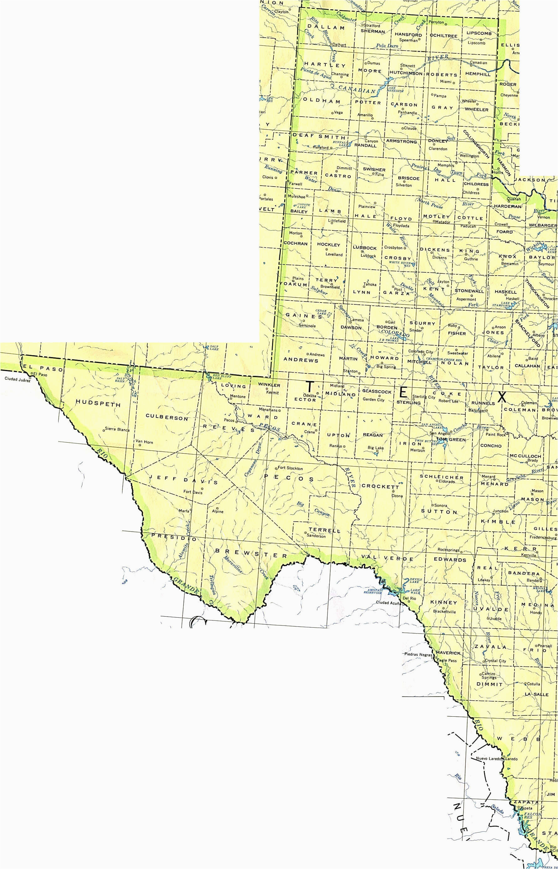 west texas towns map business ideas 2013