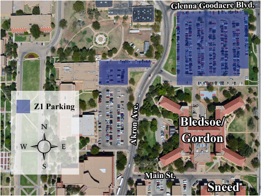 Texas Tech Campus Map 12 Ttu Campus Map ...