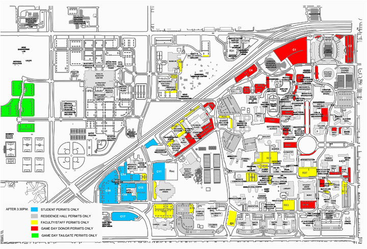 Texas Tech Parking Map | secretmuseum
