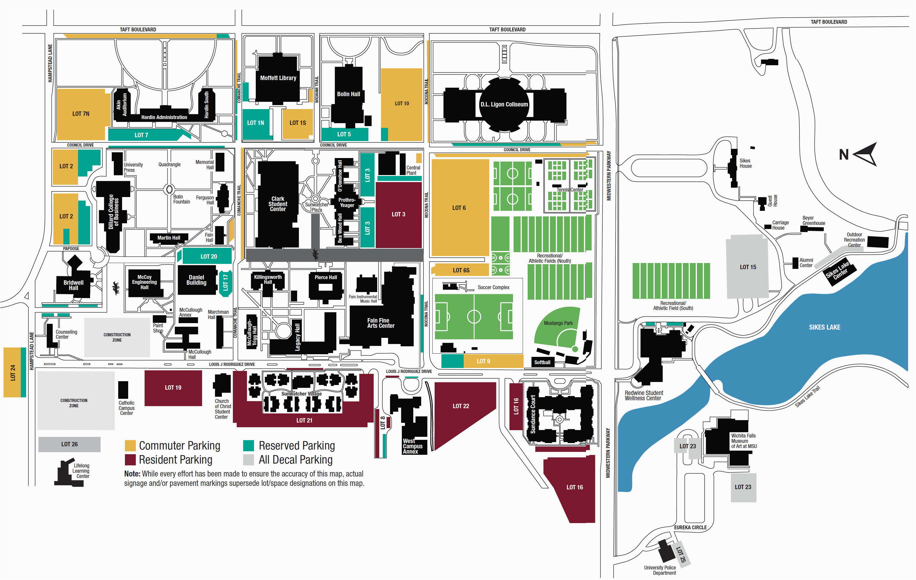 Texas Tech University Campus Map Campus Map Midwestern State ...