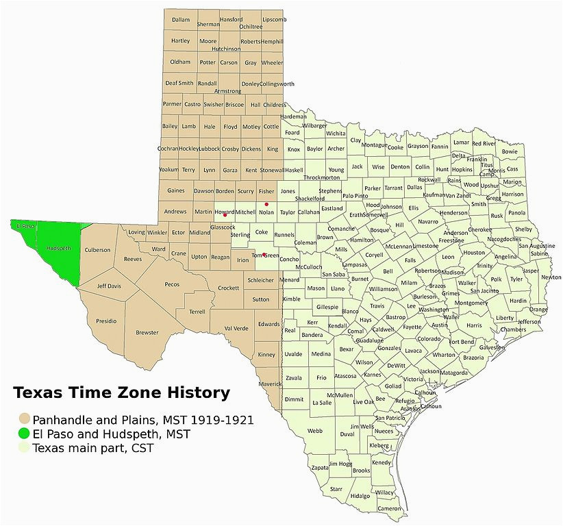 Texas Time Zone Map Texas Time Zones Map   secretmuseum