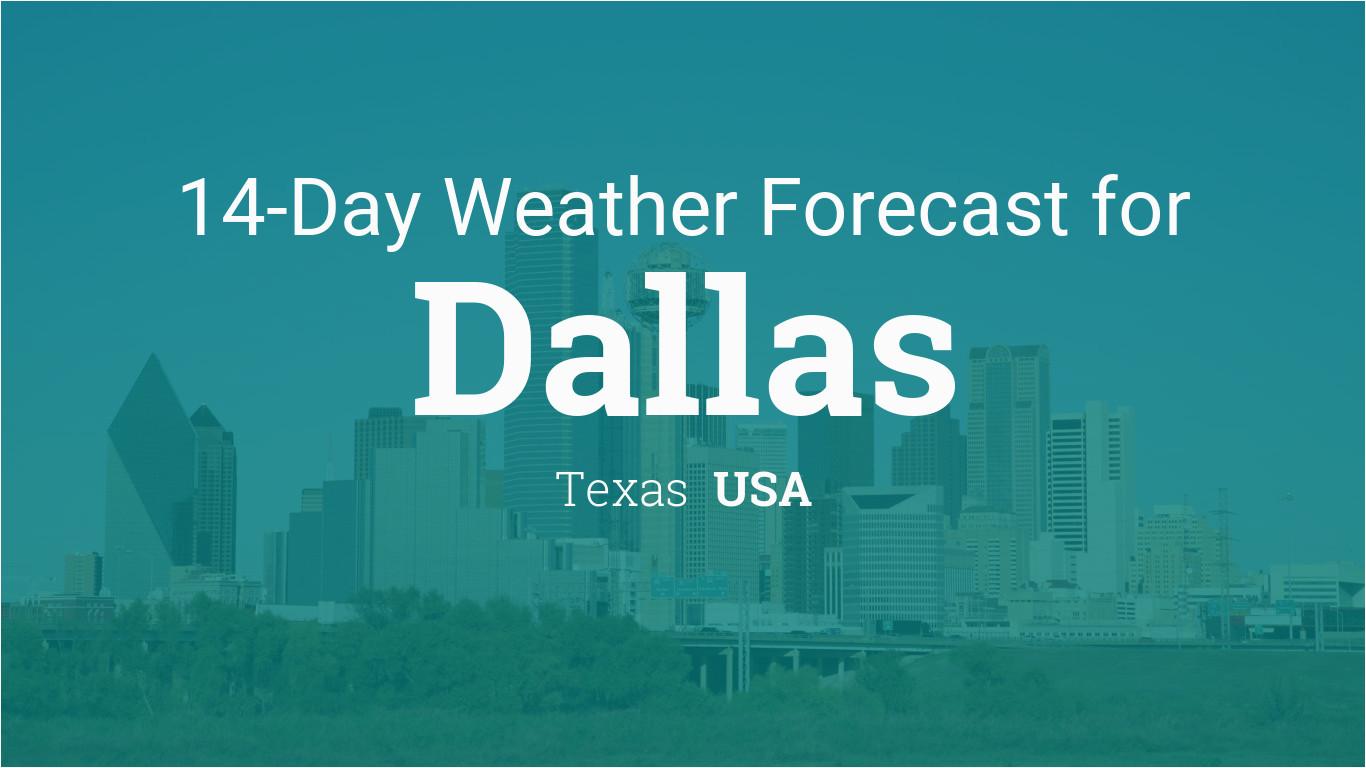dallas texas usa 14 day weather forecast