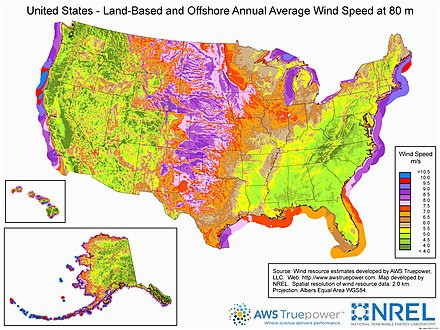 Texas Wind Map Wind Power In the United States Wikipedia