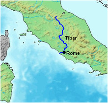 Tiber River Italy Map Tiber Wikipedia