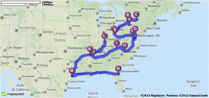 driving directions from olean new york to jacksonville florida