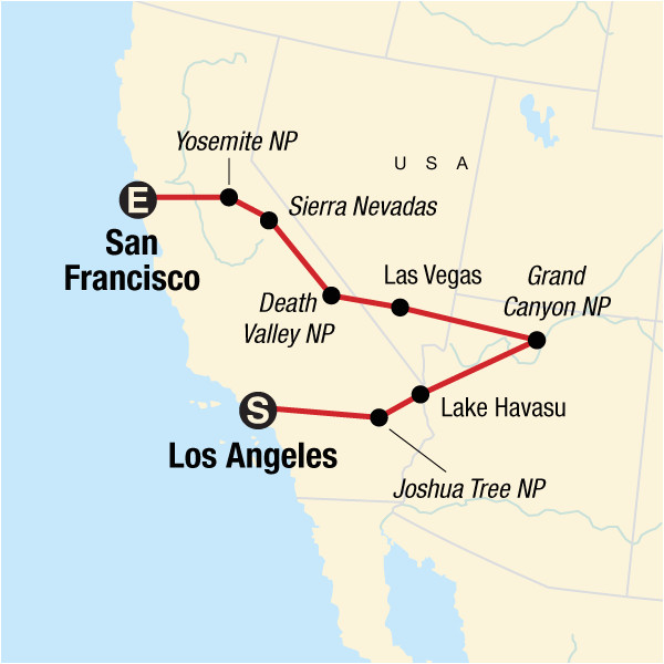 usa express von los angeles nach san francisco in vereinigte