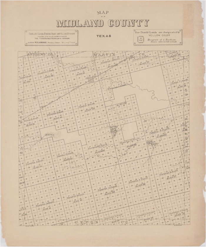 map of midland county texas the portal to texas history