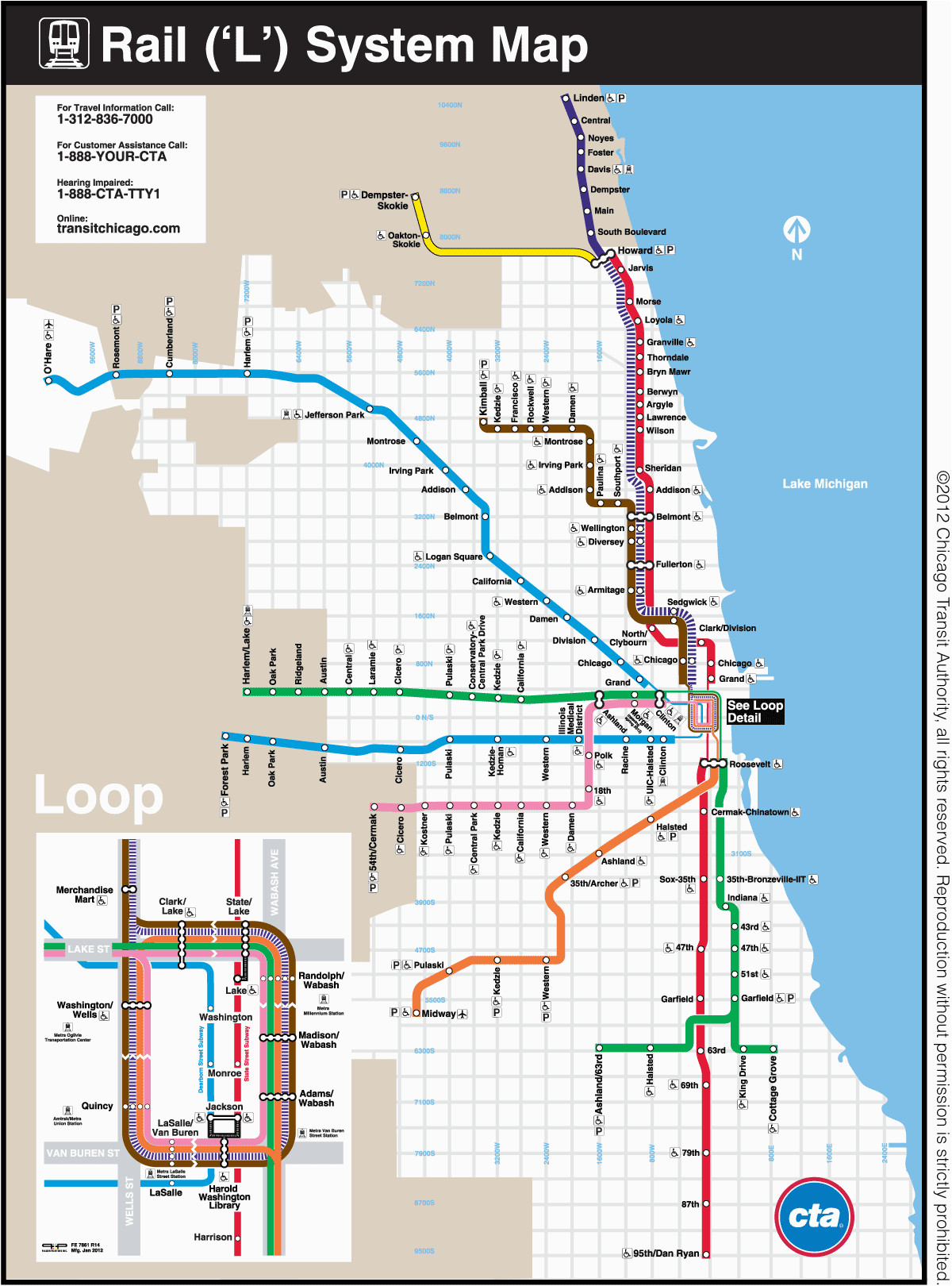 Train Maps Italy Chicago Transit Authority Art Posters Chicago Map on