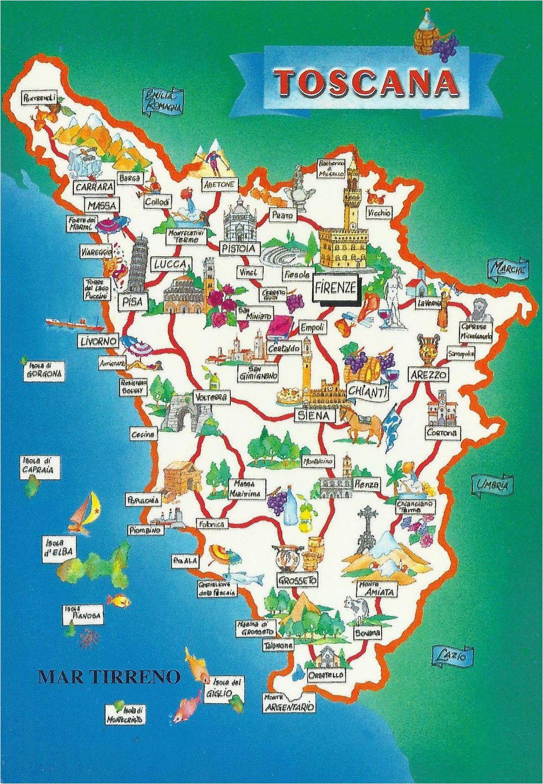 Detailed Map Of Tuscany Italy.Tuscany On Italy Map Secretmuseum