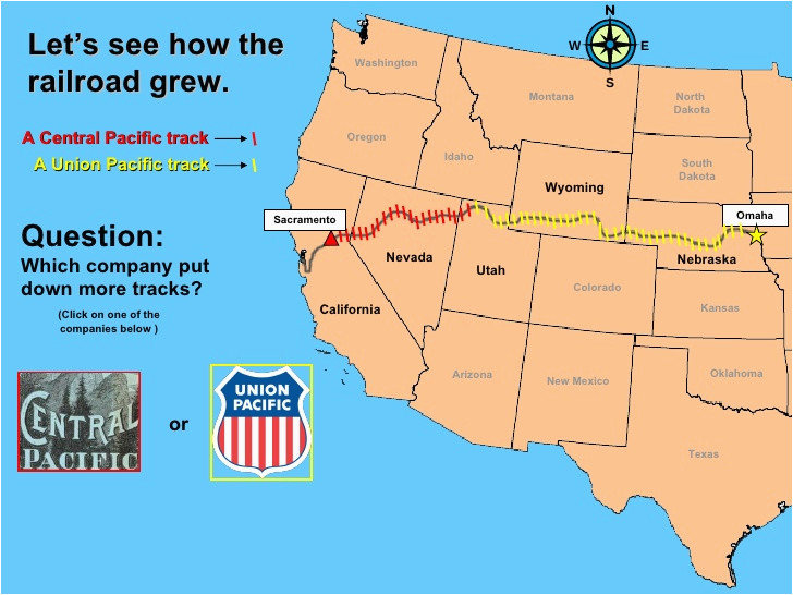 Union Pacific Railroad Map Texas First Transcontinental ...