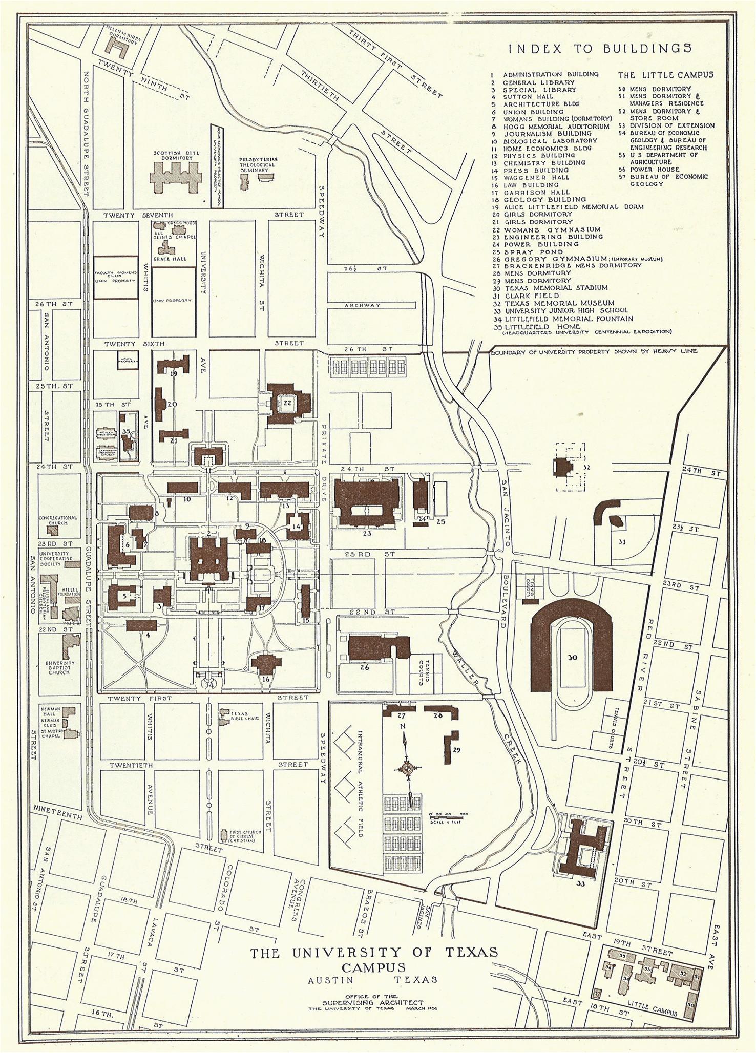 Map Of Texas Universities.Universities In Texas Map University Of Texas At Austin Campus Map