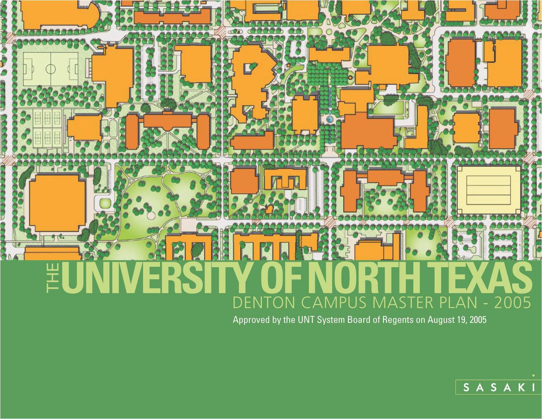 the university of north texas denton campus master plan 2005