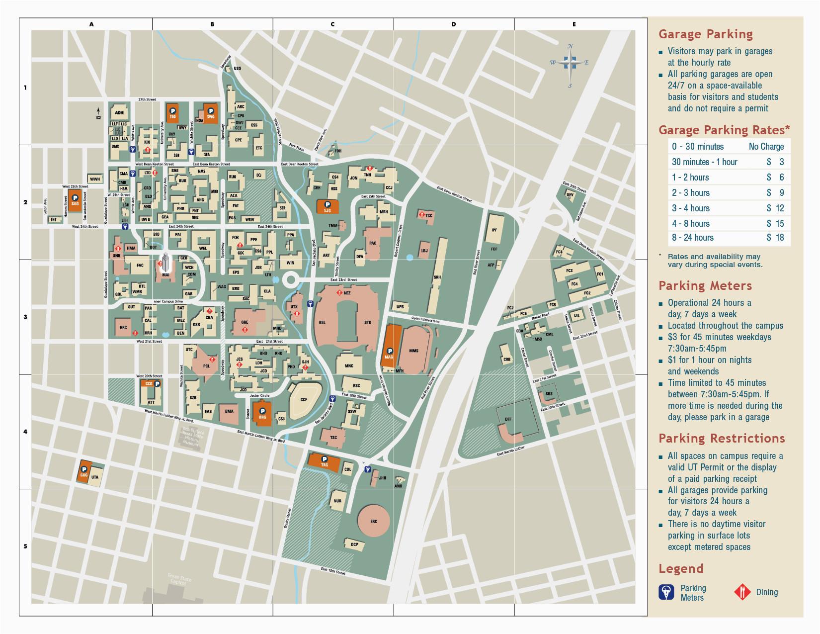 university of texas parking map business ideas 2013