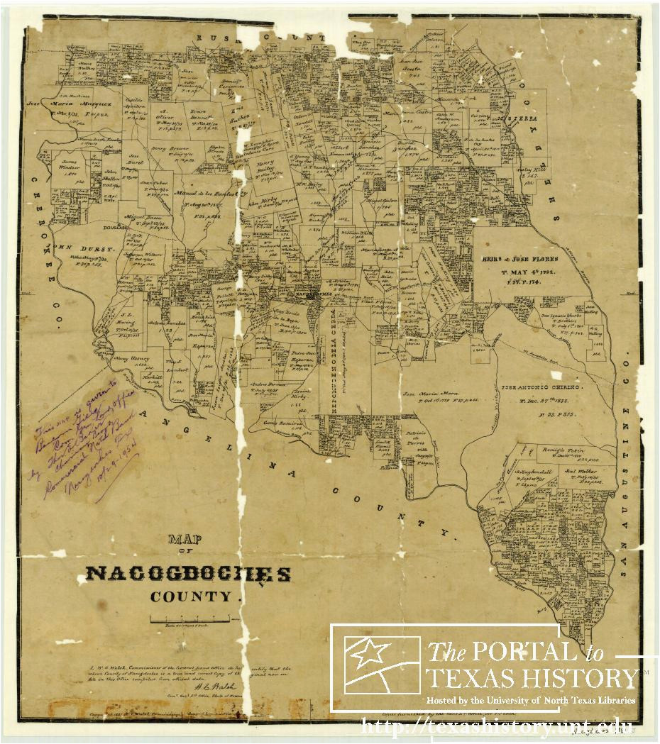 map of nacogdoches county the portal to texas history