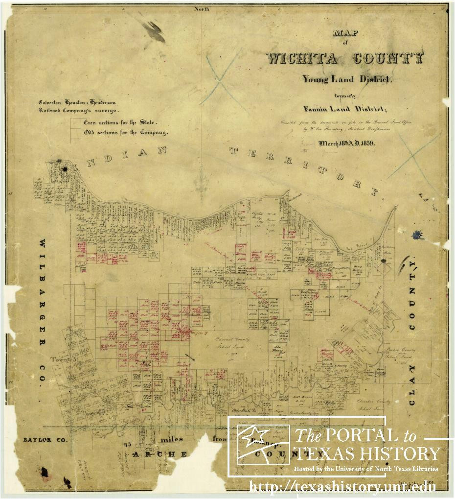 map of wichita county the portal to texas history