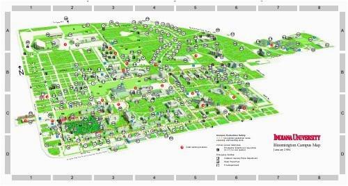 indiana university bloomington campus map