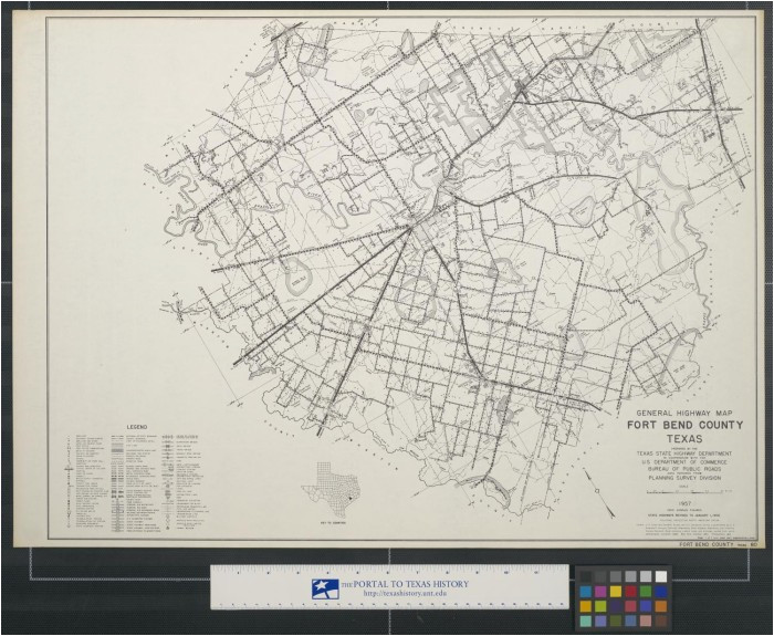 general highway map fort bend county texas the portal to texas