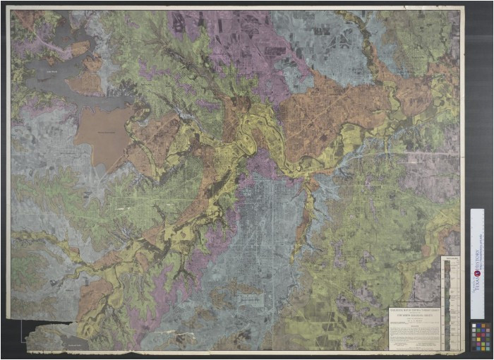 geological map of central tarrant county the portal to texas history