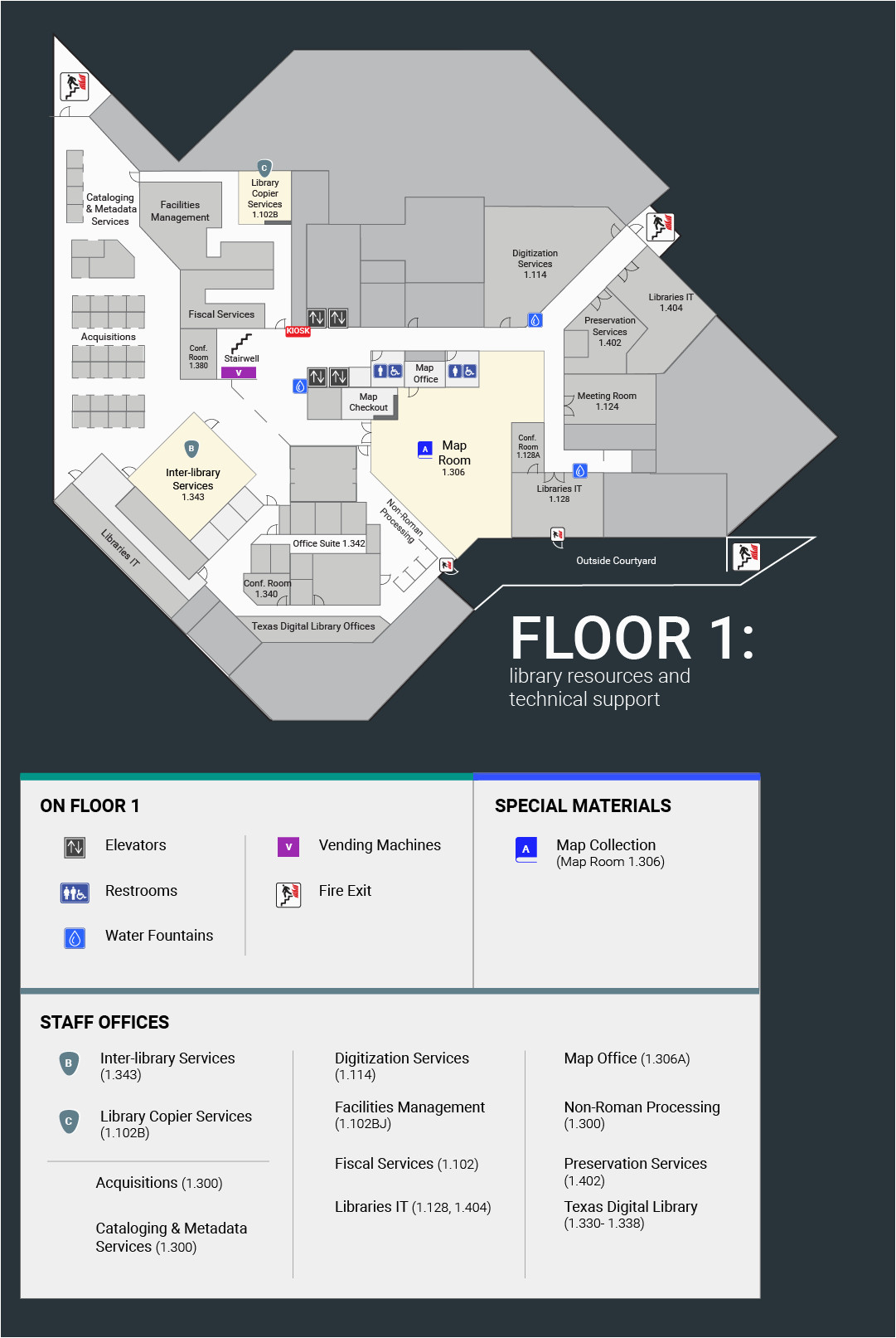 pcl floor plan university of texas libraries the university of