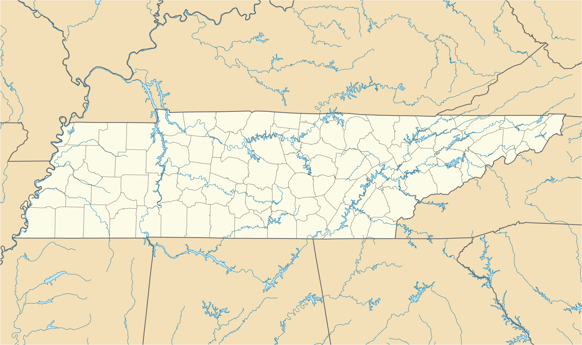 Us Map Tennessee State List Of Colleges and Universities In ...
