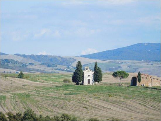 madonna di vitaleta chapel 2km outside san quirico bild von val