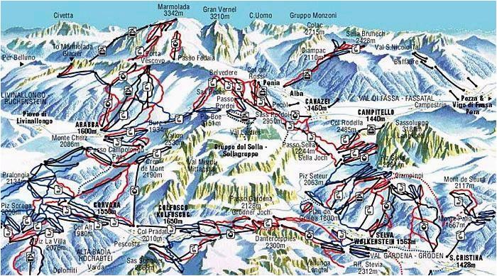 piste map val gardena val gardena skiing italy mountains