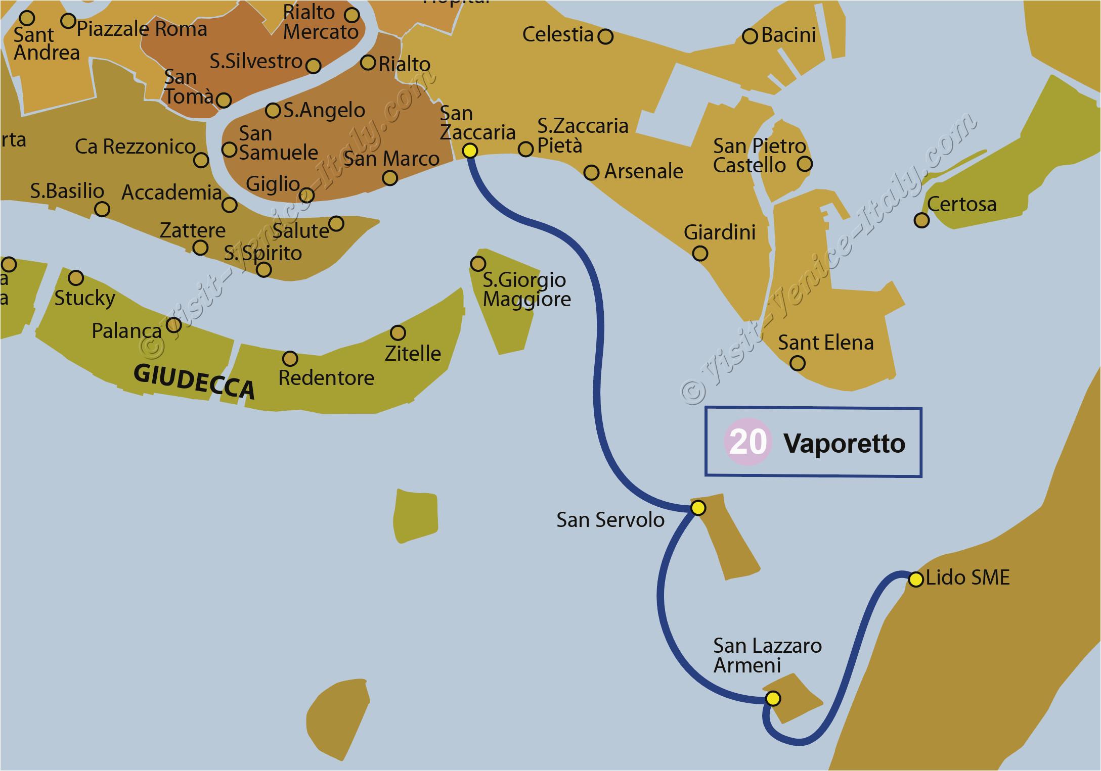 water bus venice vaporetto line 20 actv