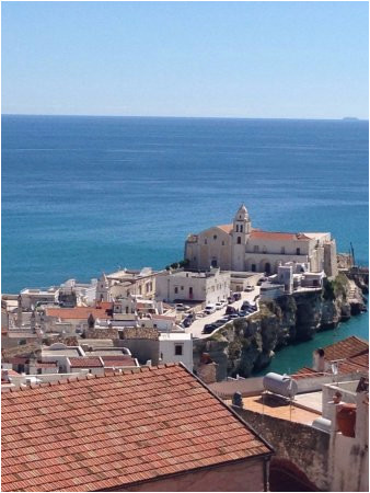 Vieste Italy Map Aussicht Von Der Terrasse Auf Vieste Picture Of B B Casanita