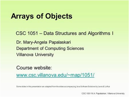 csc 1051 data structures and algorithms i dr mary angela