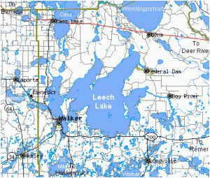 leech lake minnesota leech lake mn leech lake map minnesota map
