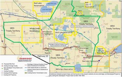 Walker Minnesota Map Sandpiper Dead Enbridge Continues Line 3 Pipeline Project Across