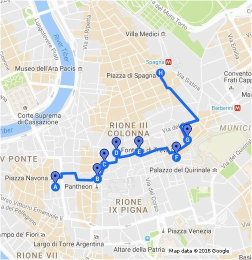 rick steves heart of rome walk travel in 2019 walking map rick