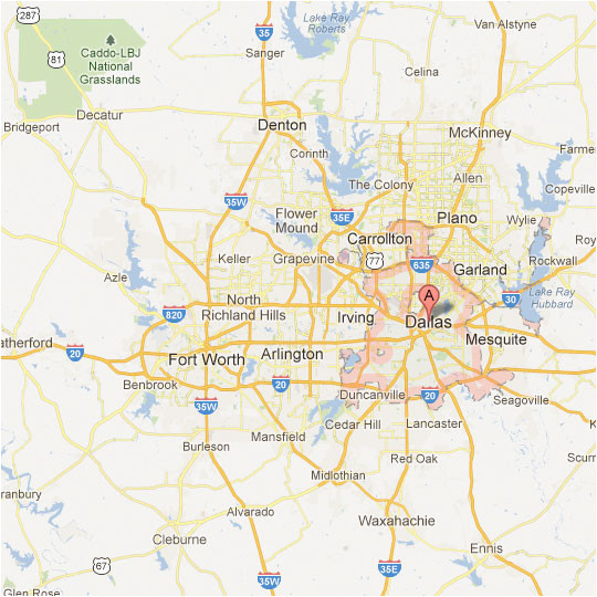 dallas fort worth map tour texas