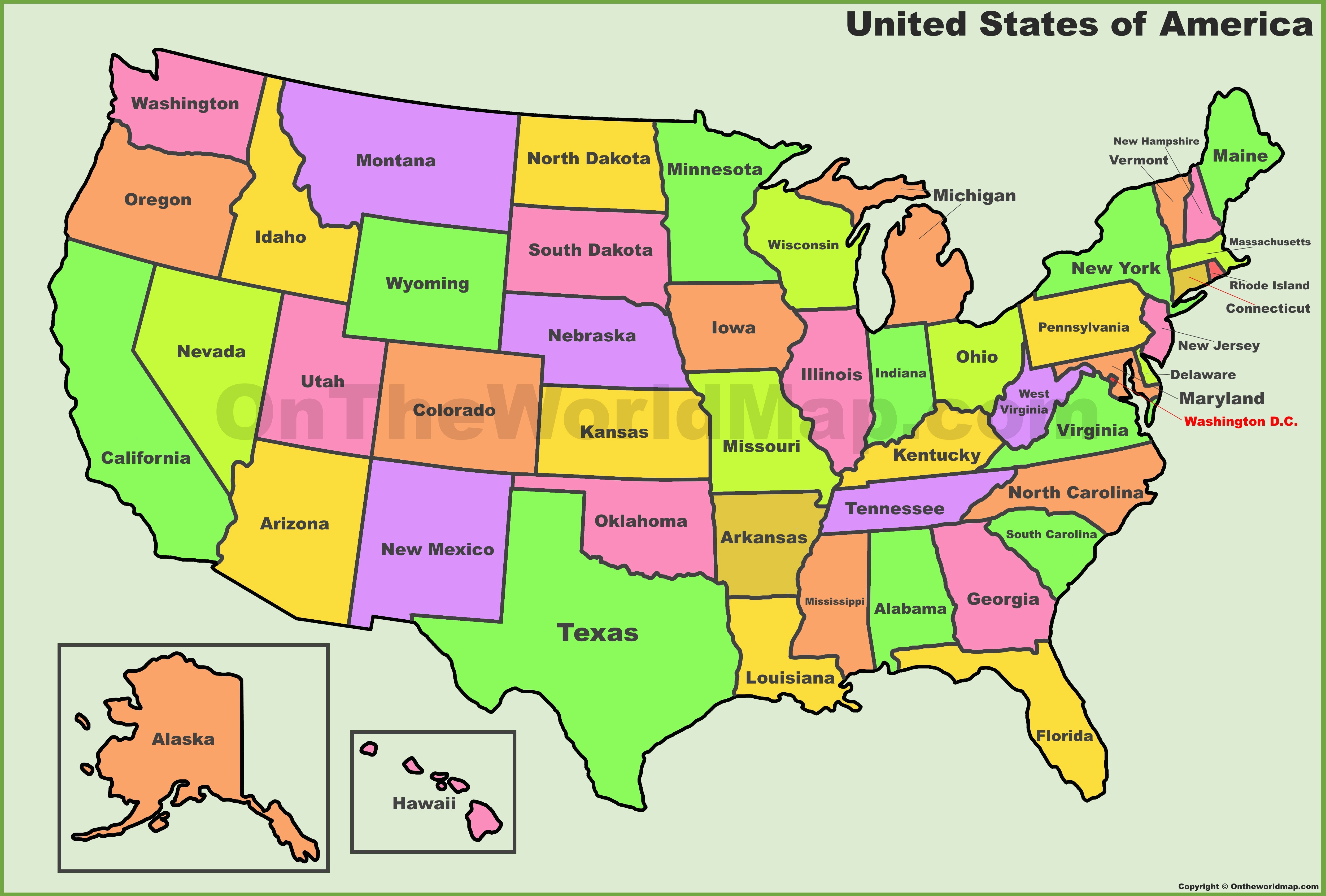 Wisconsin and Minnesota Map Usa States Map List Of U S ...