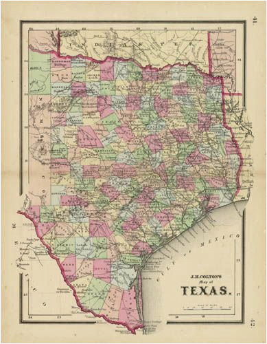 j h colton s map of texas texas historical maps map historical