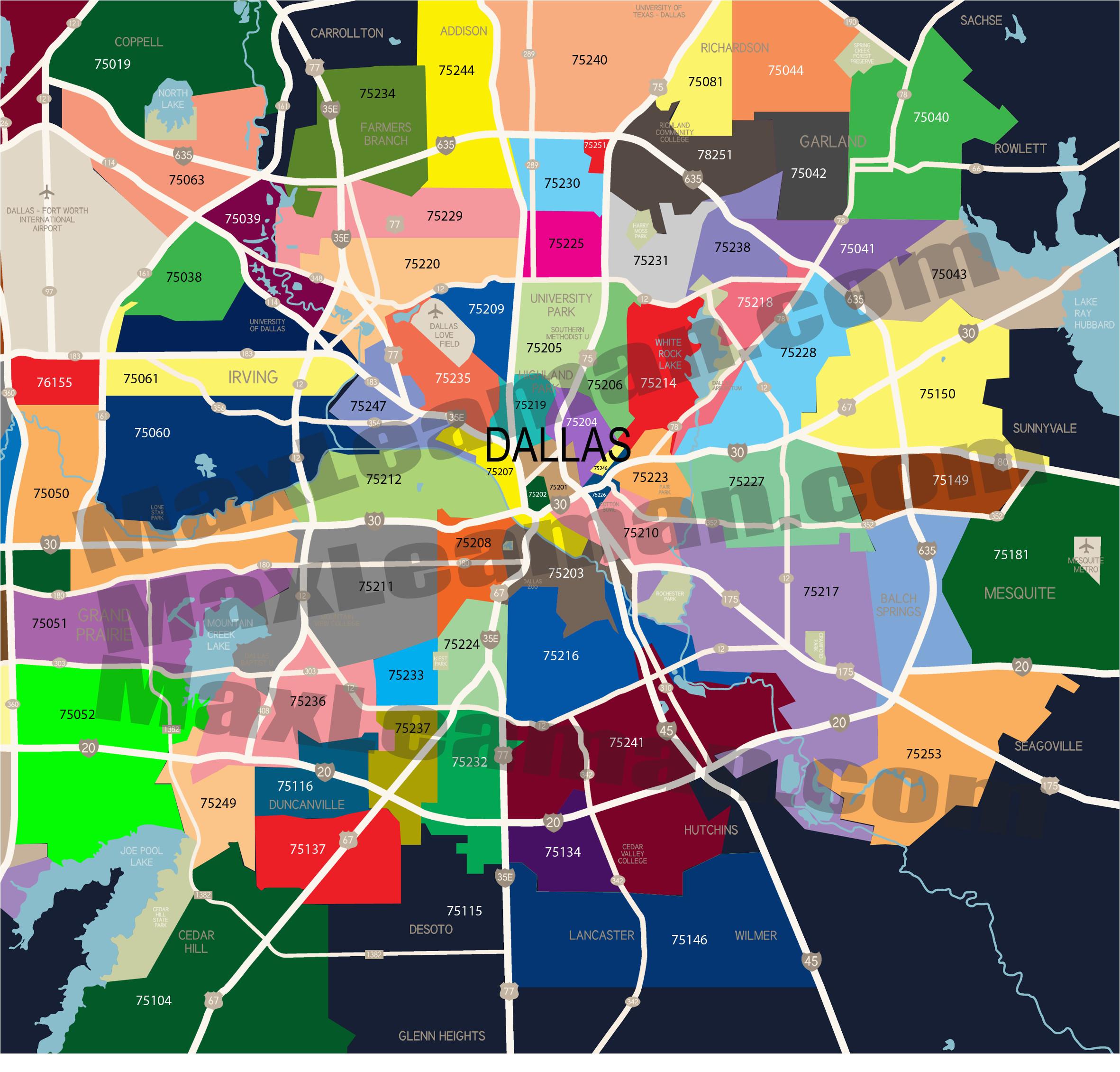 dallas zip code map mortgage resources