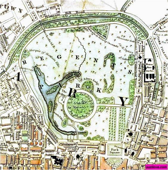 1833 regent s park london uk schmollinger map of royal