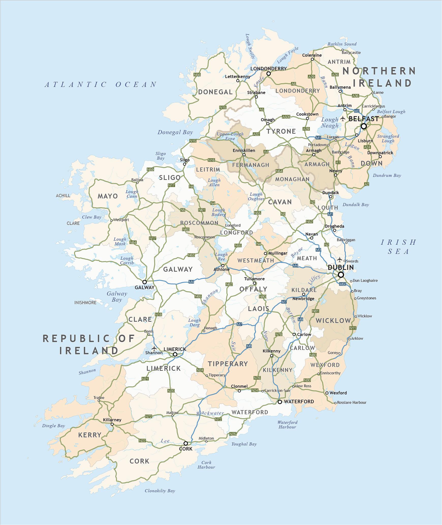 ireland map outlin free printable map berkshireregion