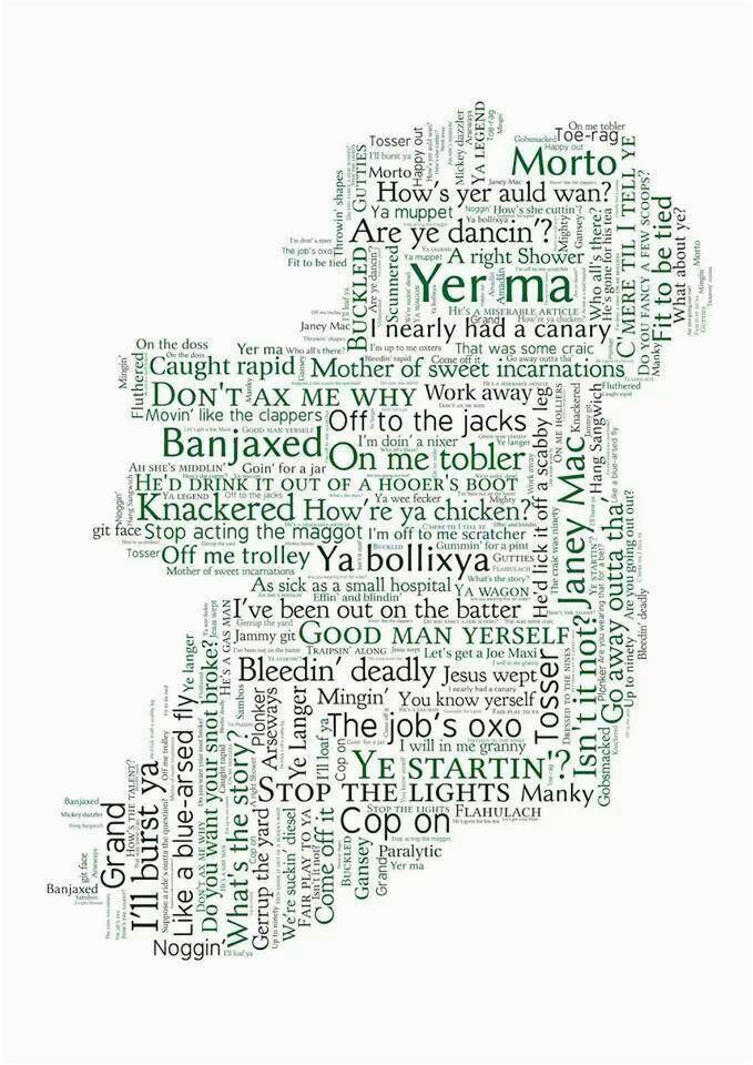 map of irish sayings by susan brambell gah i say manky