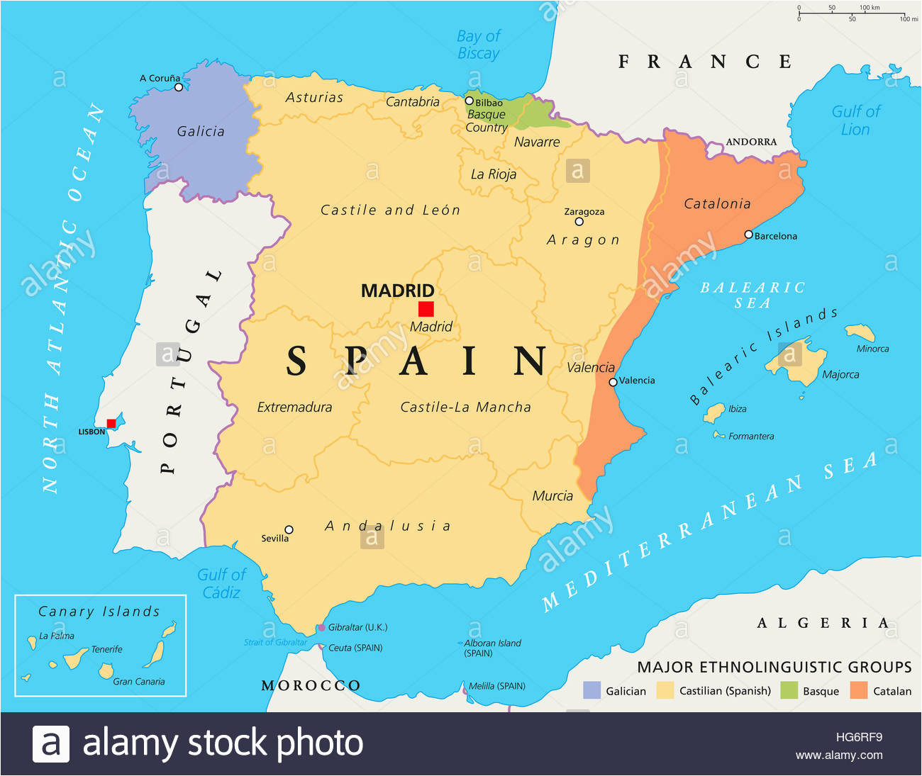 spain map stock photos spain map stock images alamy