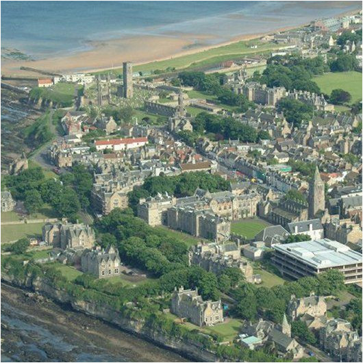an aerial view of the university of st andrews founded in 1413 it
