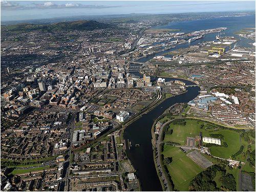 belfast aerial view3 polis metropolis megalopolis belfast