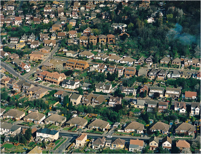 file aerial view of south benfleet suburbia geograph org uk