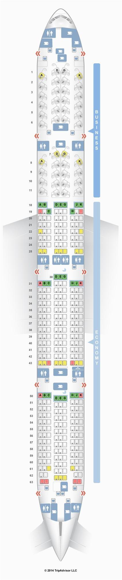 77w seat map seatguru air canada boeing 777 300er 77w two class