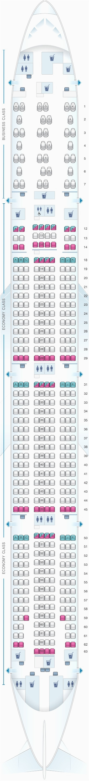 aircraft 77w seat map awesome seatguru seat map emirates boeing 777