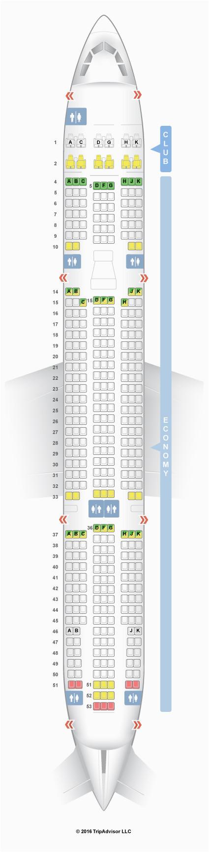 air canada seating chart elegant seatguru seat map air transat